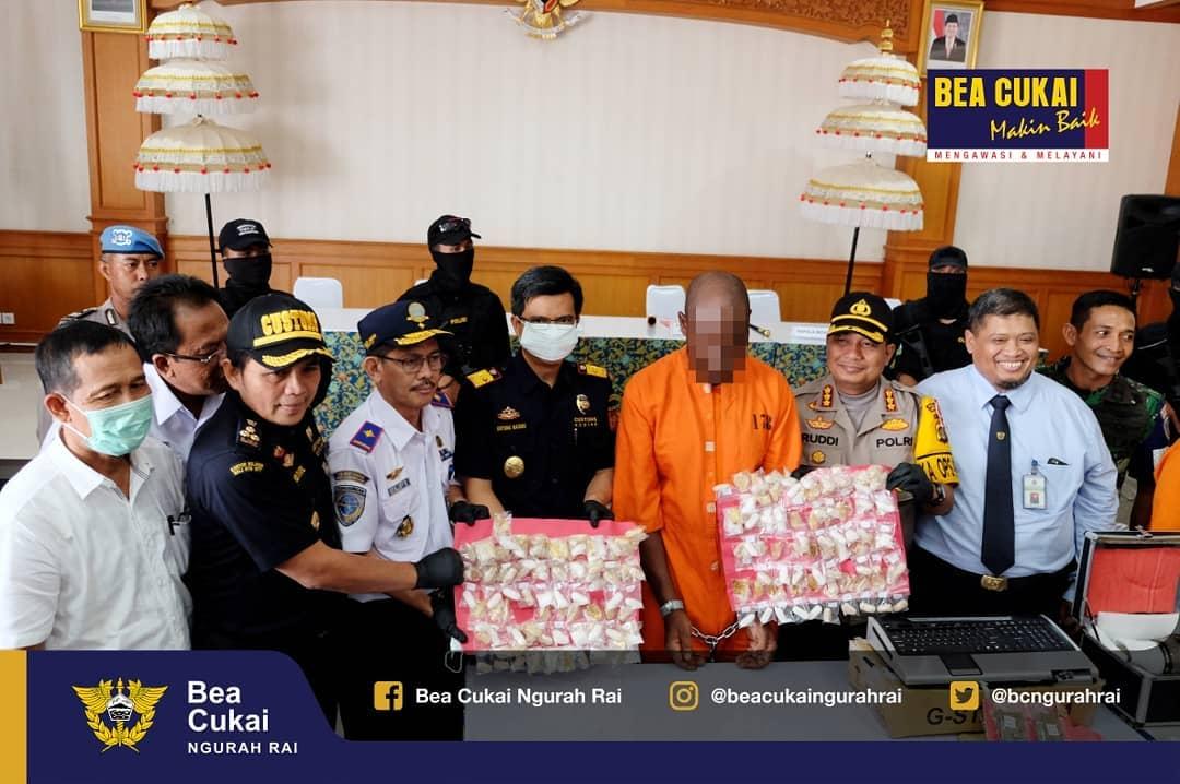 Dua Hari Berturut-turut, Bea Cukai Ngurah Rai Gagalkan Penyelundupan Narkoba Bernilai Total 1,6 Miliar Rupiah