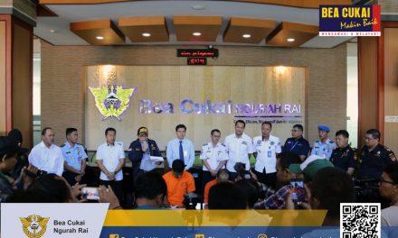 Press Conference Penyulundupan NPP, Bea Cukai Ngurah Rai Tindak Seorang WNI dan Tegah Seorang WNA