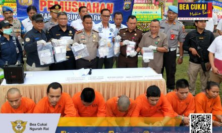 Pemusnahan Barang Bukti Narkotika oleh Polresta Denpasar di Lapangan Polresta Denpasar,