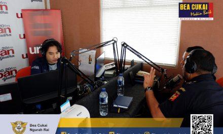 Sosialisasi Bea Cukai dan Penipuan di Urban Radio Yudha 90.2 FM Bali dan 106.9 Bali United FM