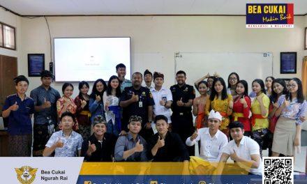 Bea Cukai Ngurah Rai berikan kuliah dengan topik 'Kepabeanan dan Pariwisata' kepada mahasiswa Program Studi Manajemen Bisnis Perjalanan Politeknik Pariwisata Bali
