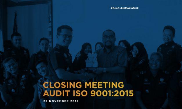 Audit Eksternal Sistem Manajemen Mutu, Bea Cukai Ngurah Rai sandang sertifikat ISO 9001:2015
