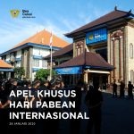 "Apel Khusus Hari Pabean Internasional dengan tema "" Customs fostering Sustainability for People, Prosperity and The Planet"""