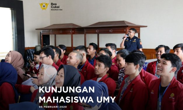 Bea Cukai Ngurah Rai menerima kunjungan dari Mahasiswa Universitas Muhammadiyah Yogyakarta