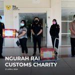 Ngurah Rai Customs Charity menyalurkan bantuan penyediaan barang-barang penanganan COVID-19 ke Rumah Sakit Umum Pusat Sanglah dan Rumah Sakit Universitas Udayana