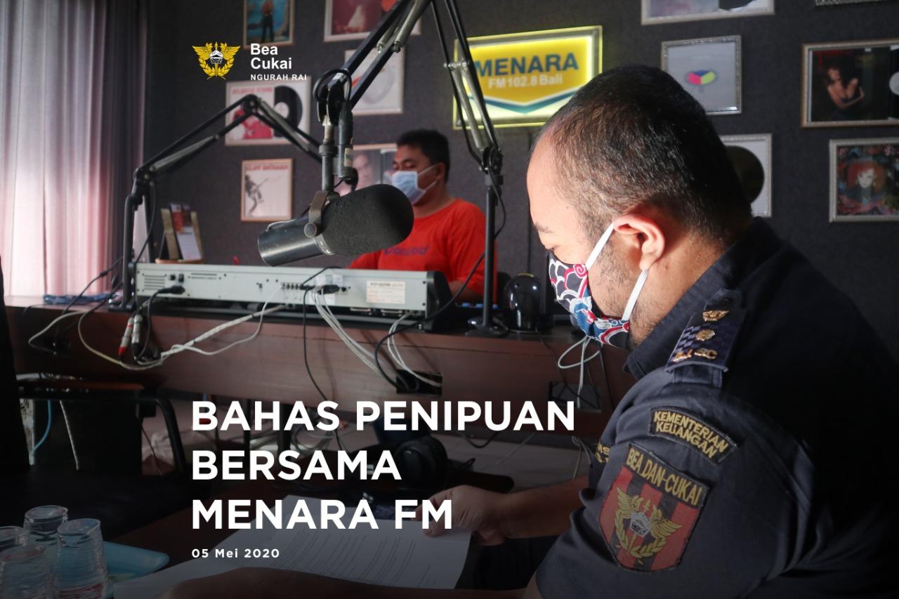 Siaran Di Radio Menara Fm Bali Bahas Penipuan Mengatasnamakan Bea