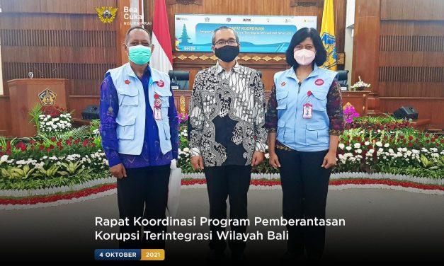 Rapat Koordinasi Program Pemberantasan Korupsi Terintegrasi Wilayah Bali