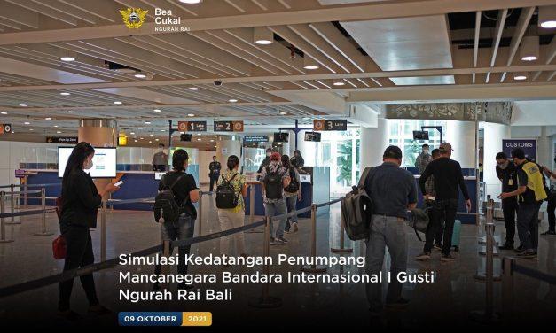 Simulasi Kedatangan Wisatawan Mancanegara Bandara Internasional I Gusti Ngurah Rai Bali