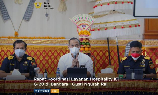 Rapat Koordinasi Layanan Hospitality KTT G-20 di Bandara I Gusti Ngurah Rai
