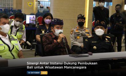 Sinergi Antar Instansi Dukung Pembukaan Bali untuk Wisatawan Mancanegara